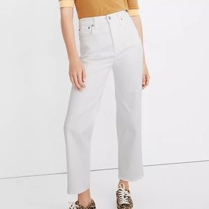 Madewell Tall Slim Wide Leg Crop Jeans Tile White